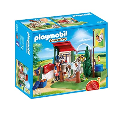 PLAYMOBIL Horse Grooming Station Building Set: Toys & Games