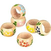 Behringer La artesanía decoración Italiana CF6 servilleta de Madera decoración- Conjunto de 6 Colores Variados,