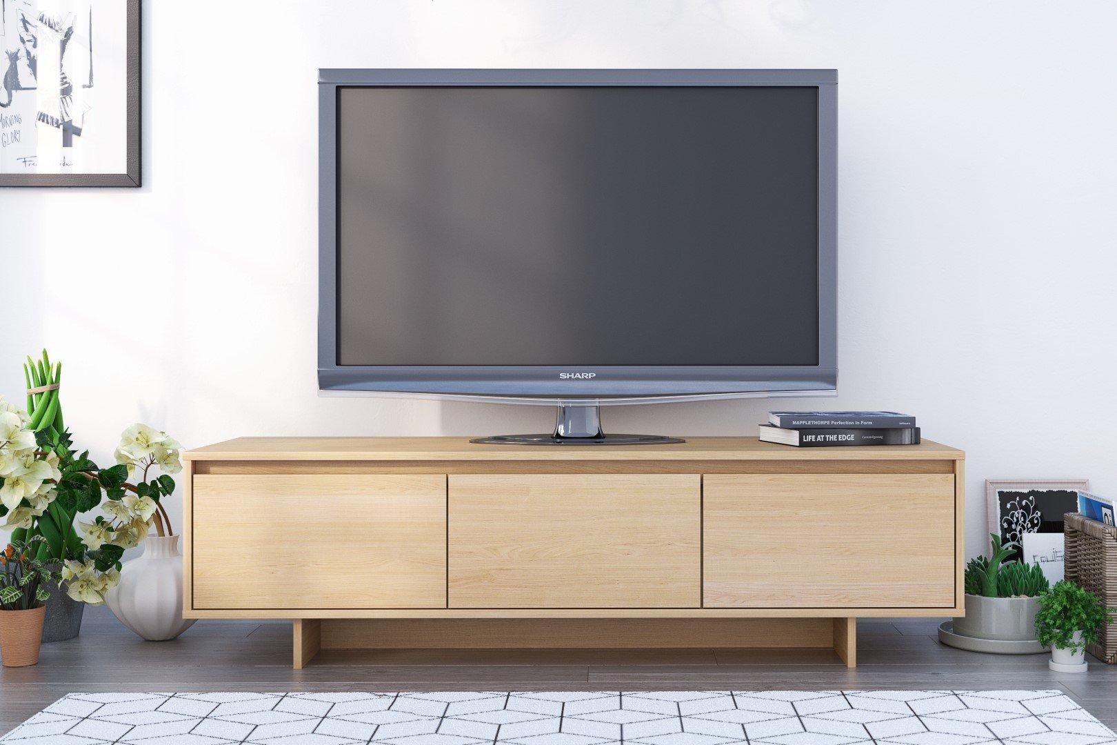 Nexera Rustik TV Stand, 60'', Natural Maple by Nexera