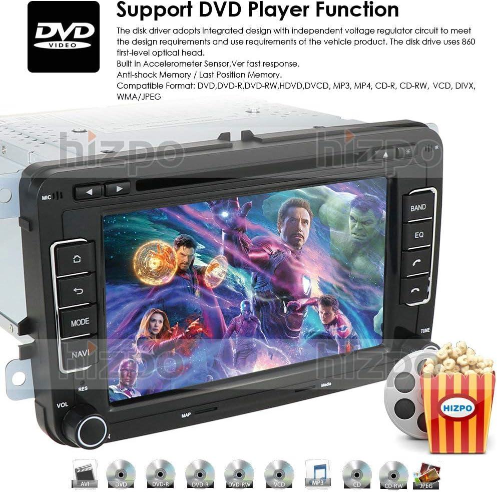 HD 7 Pulgadas Doble DIN Coche Estéreo GPS DVD Navi para VW Golf ...