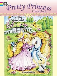 pretty princess coloring book dover coloring books - Princess Coloring Books