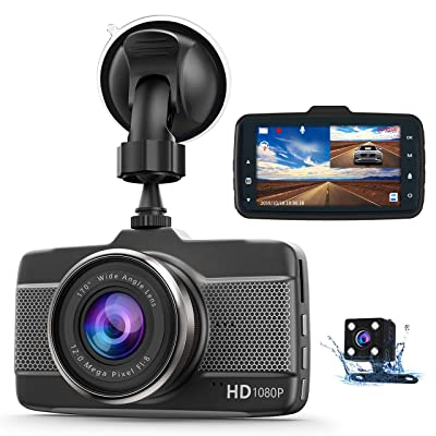 Dash Cam Car Camera Front and Rear Claoner FHD 1080P Dual Dash Cam Backup Car Camera with Night Vision, 3 Inch IPS Screen, 170° Wide Angle, Loop Recording, G-Sensor, Motion Detection, Parking Monitor: Car Electronics
