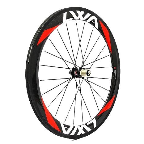 Amazon.com: LVWA full 3 K Carbon Fiber Bike wheelset Road ...