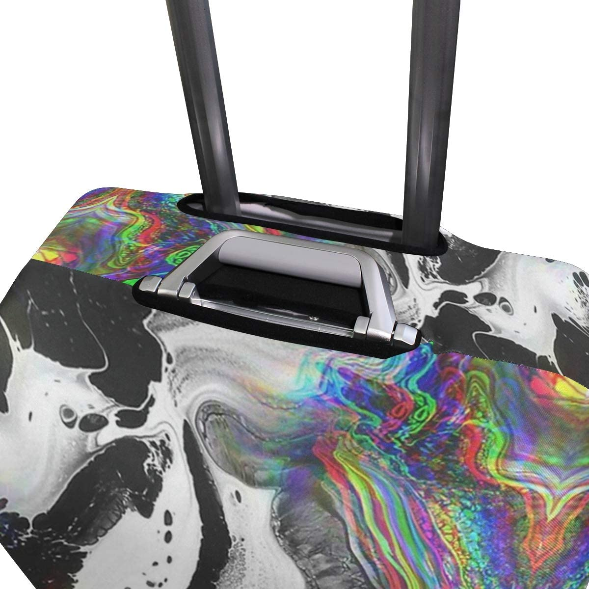 Red Lights Marble Travel Suitcase Protector Zipper Suitcase Cover Elastic