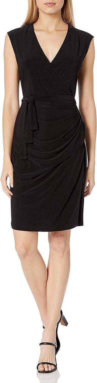 Laundry by Shelli Segal Women's Matte Jersey Faux Wrap Dress