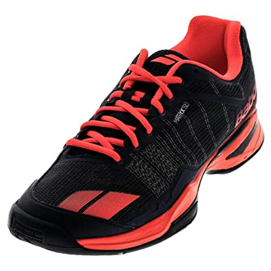 e55e553314dd2 Babolat Men's Jet Team All Court Tennis Shoes (Blue/Red) (9 D(M) US)