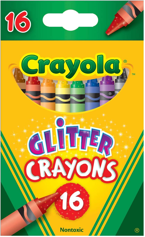 Crayola Glitter Crayons, Regular Size, 16 Count