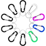 WAPAG Carabiner Clip 2Inch Aluminum Flat Gourd Shape Mini Spring Hook Keychain Keyring for Keys Small items Daily Life Hammocks Camping Hiking Running Accessories