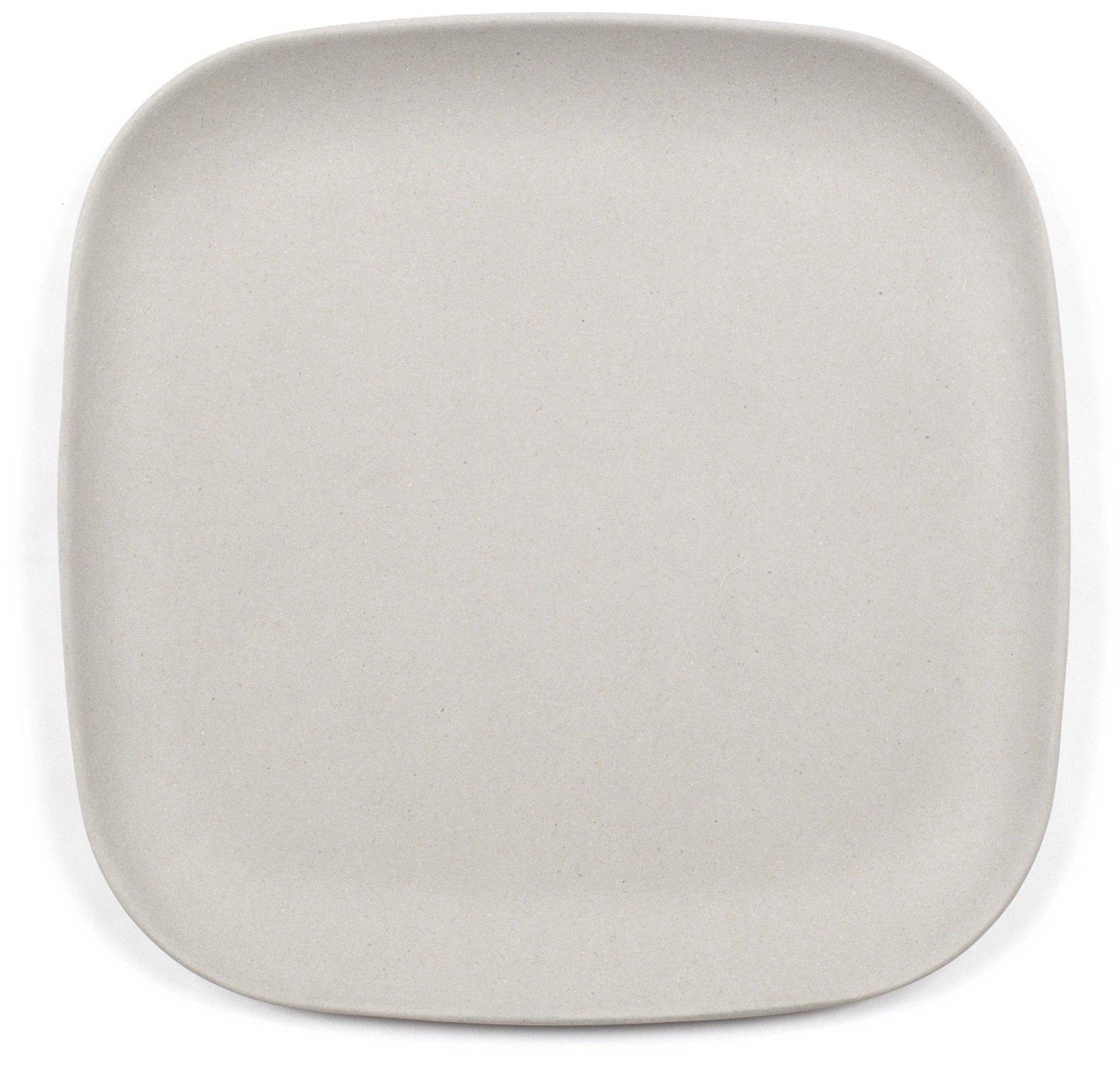Bamboozle 9.5'' Elegant Bamboo Lunch Plates (4 Plates, Grey)