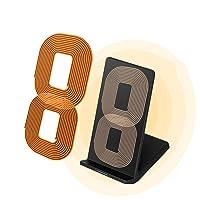 Qi ワイヤレス充電器( 2基コイル、冷却ファン内蔵、10W 急速 )iPhone X / 8 / Galaxy / Nexus / Xperia他 Qi対応機種 置くだけ充電