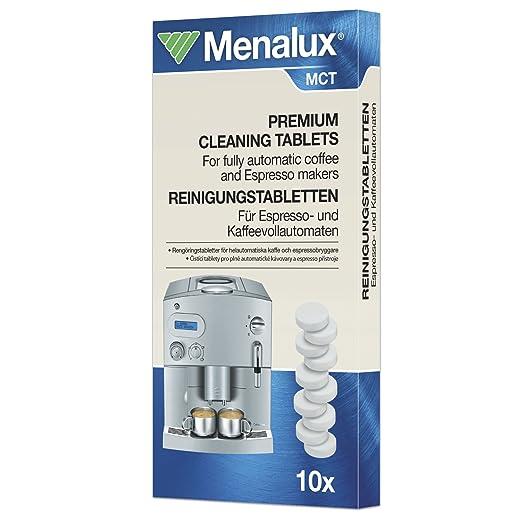 Menalux MCT Premium - Pastillas de limpieza para cafeteras y lavavajillas (10 pastillas)