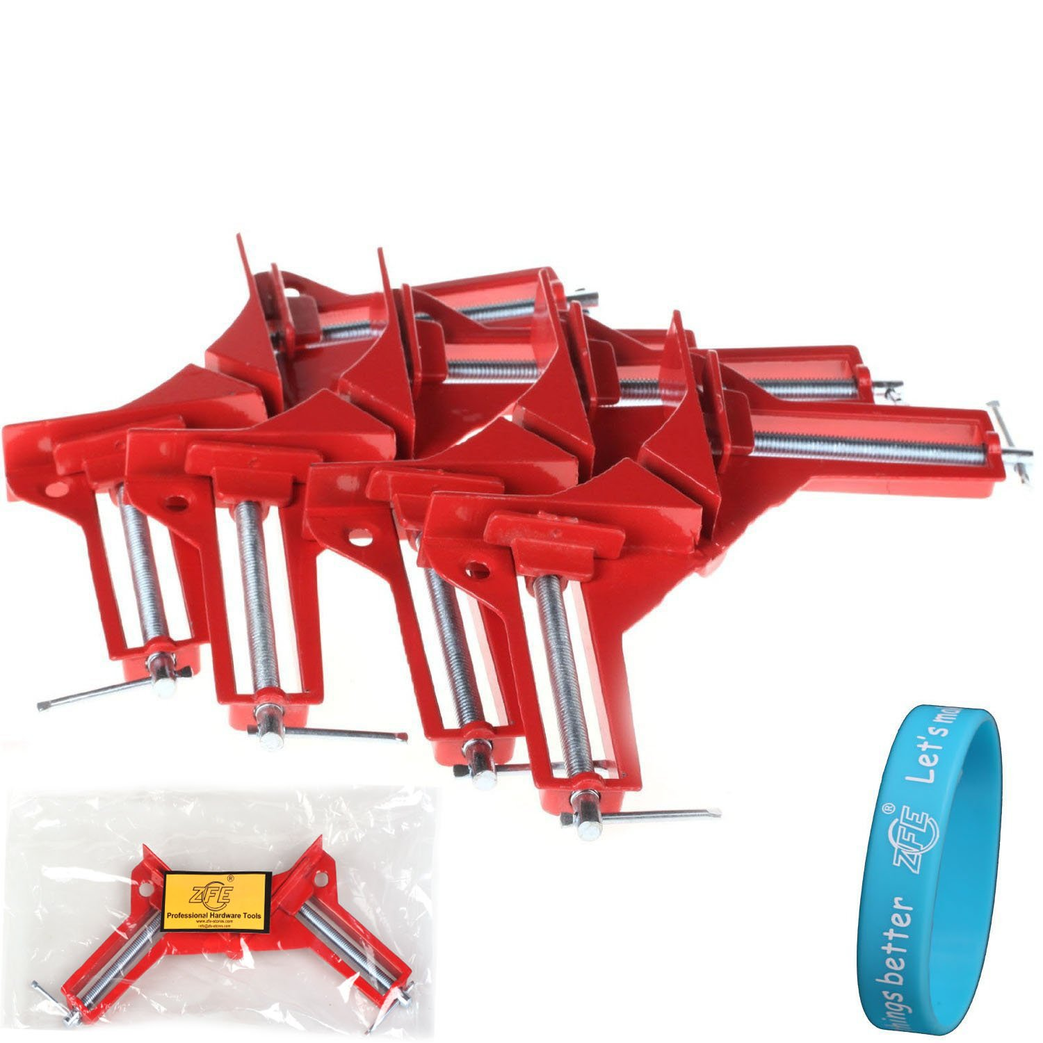 ZFE 4Pcs Style 90 Degrees Angle Clamp Right Angle Woodworking Frame ...