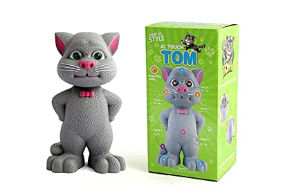 Buy Deeti Toys Intelligent Talking Tom Cat With Touch Recording