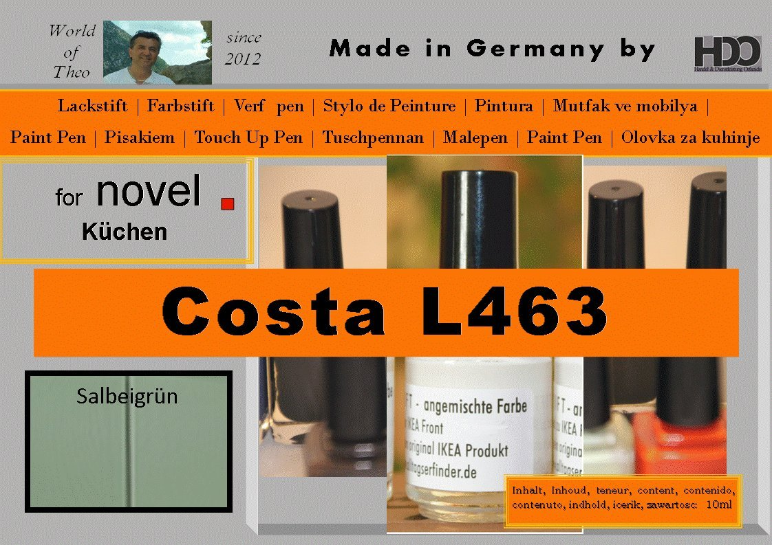 Ausbesserungsfarbe Fur Novel Costa Csa L463 Amazon De Kuche Haushalt