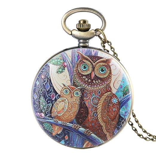 Reloj de Bolsillo con diseño de búho para niños, Reloj de Bolsillo Digital arábigo, Regalo para niñas: Amazon.es: Relojes