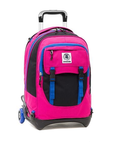 selezione premium af4b5 78ebb TROLLEY INVICTA - PLUG - Rosa Nero Blu - Zaino SGANCIABILE e LAVABILE -  Scuola e viaggio 32 LT