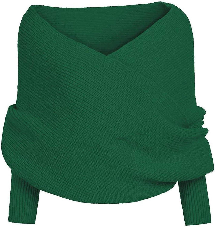 Women Scarf Poncho Women Scarves Womens Winter Women Knitted Long Sleeve Wrap Shawl Scarf 71RDO8k1bEL