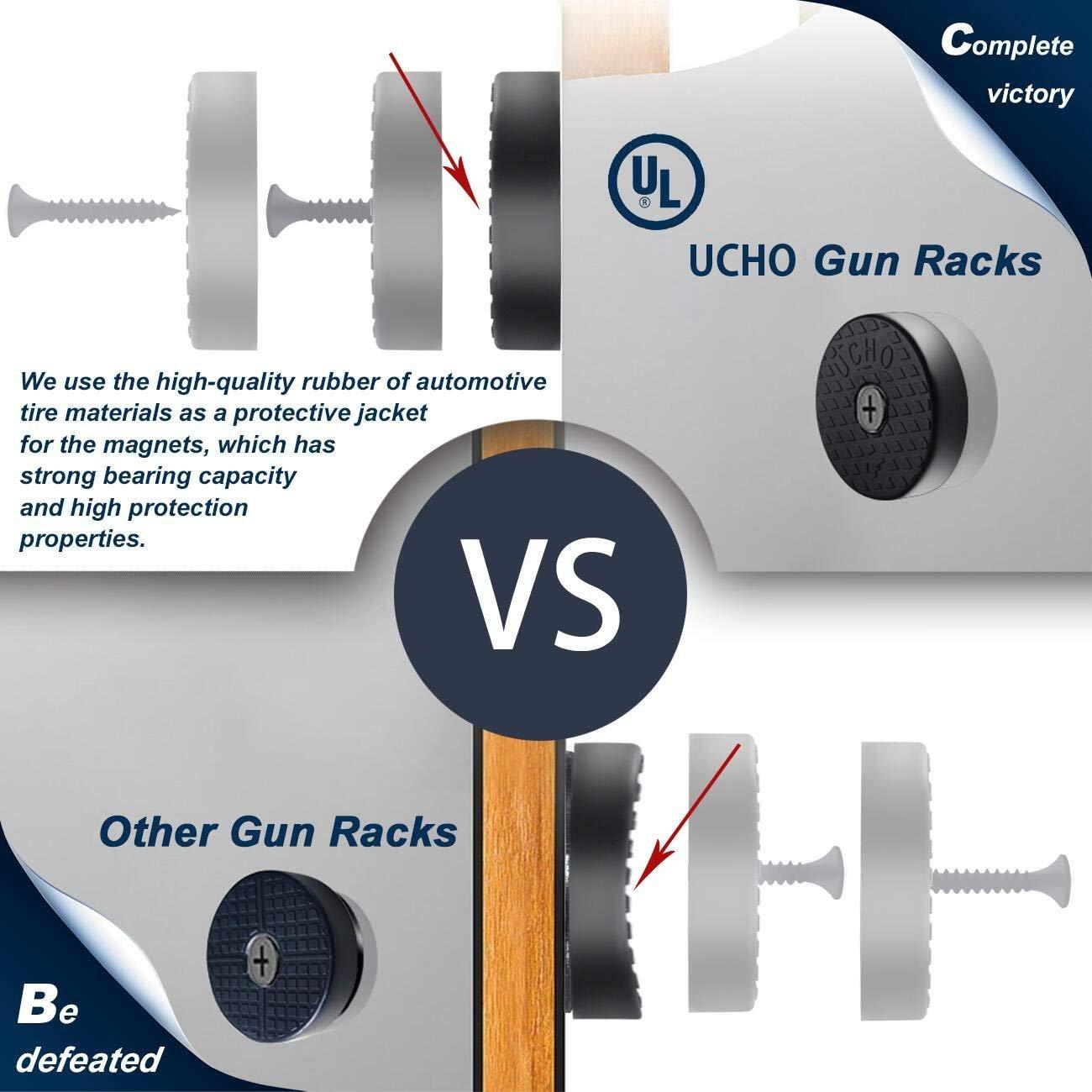 889c79f61 Amazon.com : UCHO Officreative Gun Magnet Mount - Coated Magnetic Gun Mount  & Holster, Concealed Holder for Handgun, Rifle, Shotgun, Pistol, Revolver,  ...