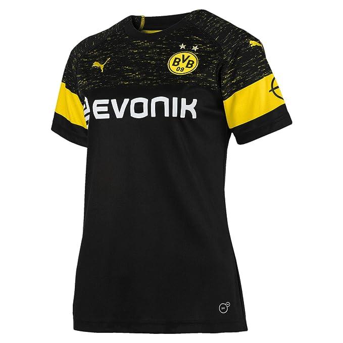 Puma BVB WMS Away Camiseta Réplica Evonik with Opel Logo Camiseta, Mujer, 753321, Puma Black, Small: Amazon.es: Deportes y aire libre