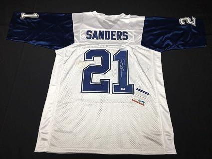 official photos d9cb4 6ccd4 Deion Sanders Autographed Jersey - *Primetime *HOF 8A58472 ...