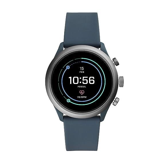 8b2e02cf90bb Fossil Gen 4 Reloj inteligente deportivo con visualización táctil de  silicona y metal para hombre