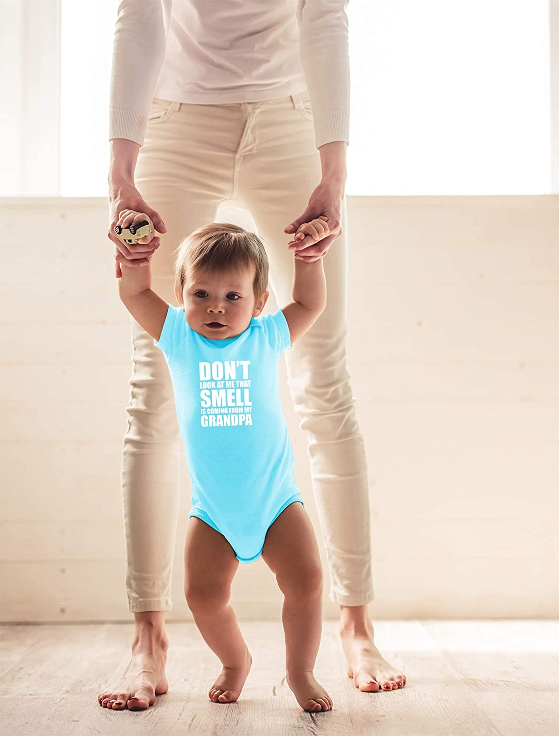 That Smell is Coming from My Grandpa Cute Infant One-Piece Baby Bodysuit CBTwear Dont Look at Me