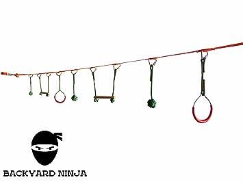 Amazon.com: Backyard 40 foot Ninja Carrera de obstáculos ...