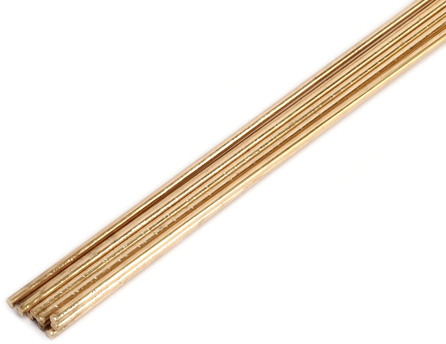 Forney 47300 Bare Brass Gas Brazing Rod, 1/8-Inch-by-18-Inch, 10-Rods - Arc Welding Equipment - Amazon.com