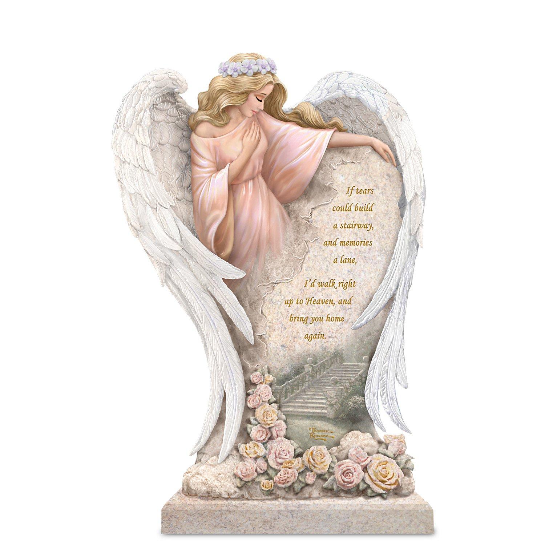 Thomas Kinkade In Loving Memory Angel Sculpture by The Bradford Exchange