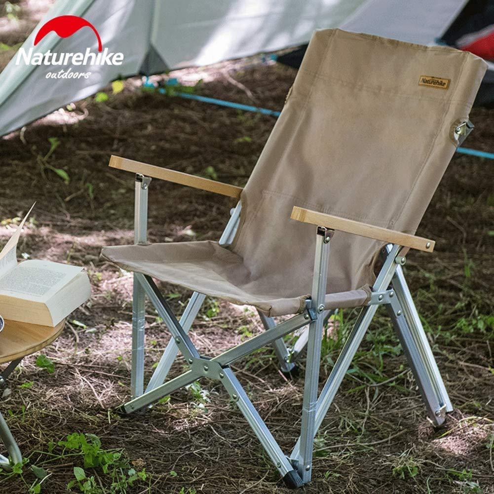 Silla de Pesca Port/átil de Aluminio Resistente de 120 kg para Festivales Picnic Jard/ín Tentock Al Aire Libre Silla Plegable de Camping Ultraligera con Respaldo