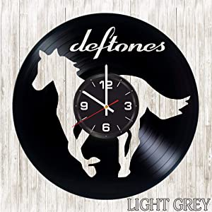 Deftones Vinyl Wall Clock - Vintage Record - Original Gift for Any Occasion - Unique Home Decor - Quartz Non Ticking Mechanism - Great Wall Decor for Living Room Kitchen Bedroom - Wall Art Design