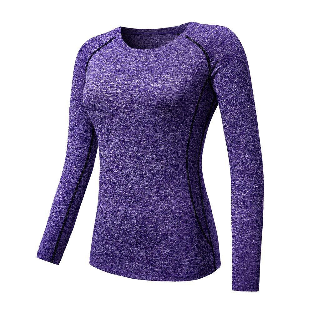 Women's Quick-drying Slim Yoga T-shirt Womens Long-sleeved Sports Shirts