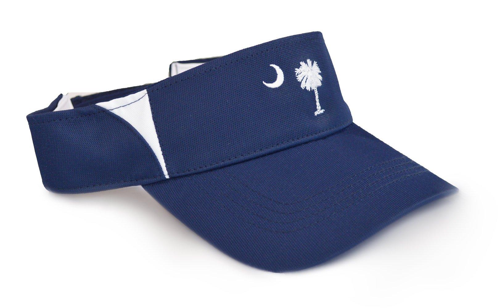 South Carolina State Flag Performance Visor| SC Palmetto Wicking Golfing Visor