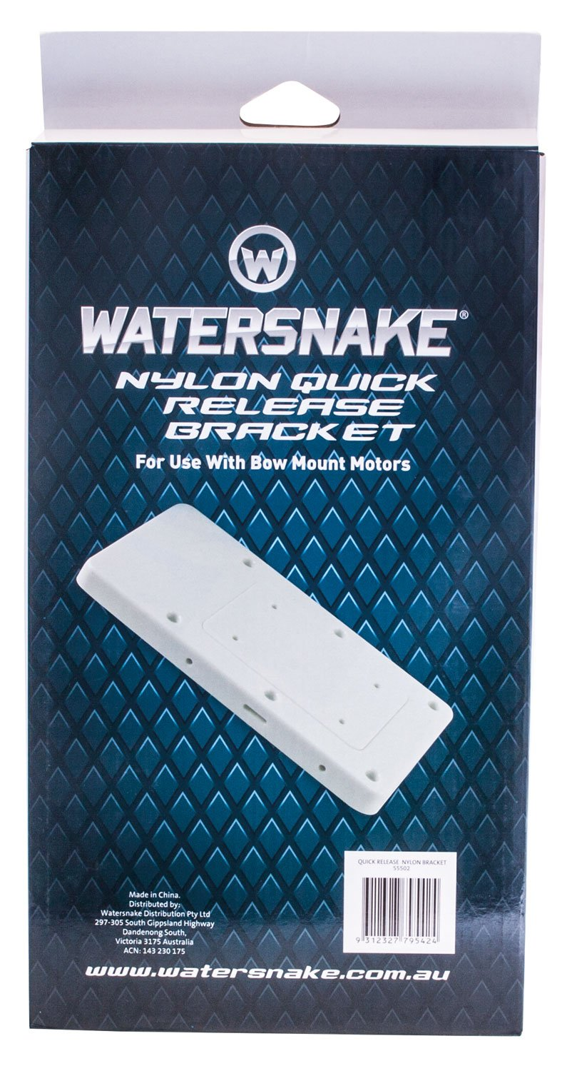Watersnake Quick Release Nylon Bracket (White, 14-Inch).