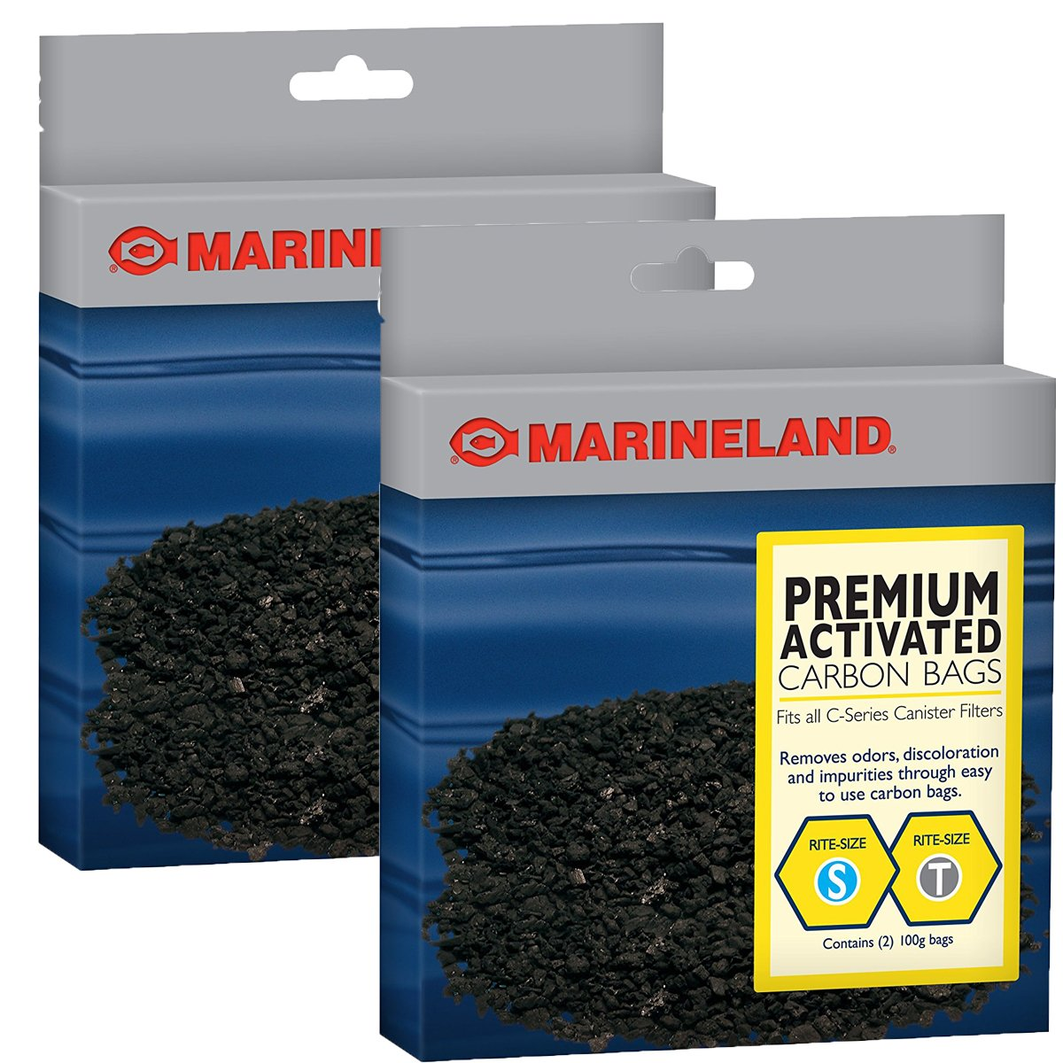 Marineland PA11485 Canister Filter Carbon Bags, 4-Pack