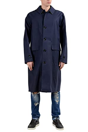 """5f44c89a3 Image Unavailable. Image not available for. Color: Hugo Boss """"Garris Men's  Navy Blue Relaxed Fit Coated ..."""