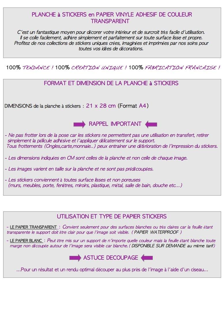 STICKERS D/ÉCORATIFS DANSEUSE /à d/écouper Planche /à stickers DIMENSIONS 21x28cm en PAPIER ADHESIF TRANSPARENT