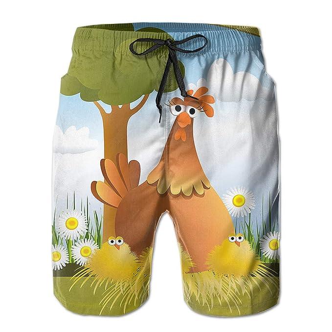 8548211080e Trend Coordinate Easter Chicken Eggs Men S Boys Print Swim Trunks  Boardshorts Cute Mens Shorts | Amazon.com