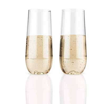 Buy Flexi Set Of 2 Stemless Champagne Flutes By True Online At Low
