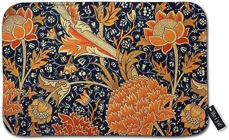 Nonebrand Badematte Gummi Rutschfest William Morris Cray Floral Art Nouveau Muster Badteppich Fur Duschboden Wohnzimmer Und Waschkuche 39 9 X 23 6 Cm Amazon De Kuche Haushalt