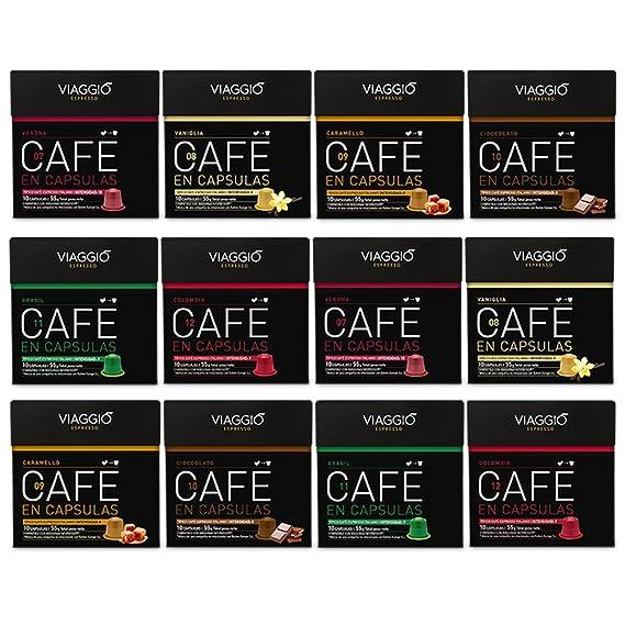VIAGGIO ESPRESSO - 120 Cápsulas de Café Compatibles con Máquinas Nespresso - SELECCIÓN ESPECIAL