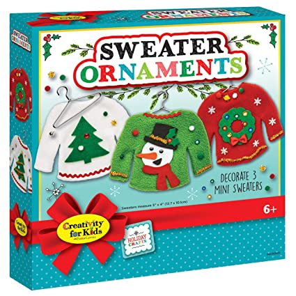Amazoncom Creativity For Kids Sweater Ornaments Create 3 Ugly