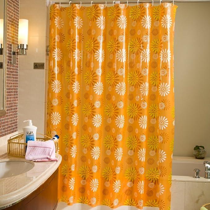 Cortina plástica Peva cortinas de mampara de baño Cuarto de baño engrosamiento y cortinas colgantes-A 200cm*180cm: Amazon.es: Hogar
