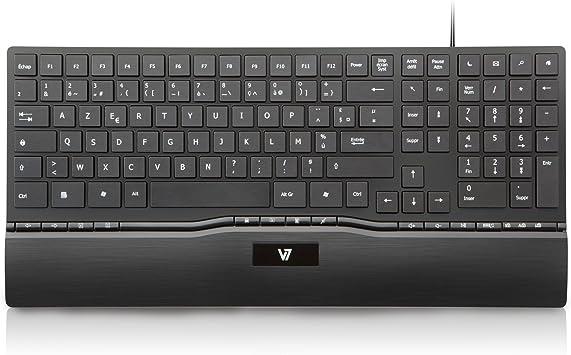 V7 - Teclado (USB, PC/Server, Oficina, Negro, Monótono, China)