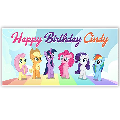 Personalised My Little Pony Option 2 Birthday Banners
