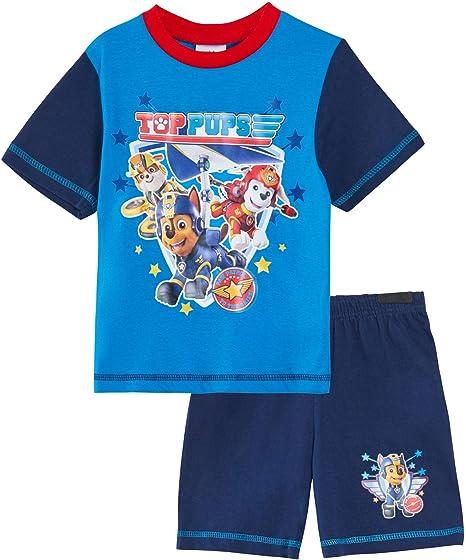 new PAW Patrol boys summer Pyjamas kids tshirt top pajamas shorts sleepwear