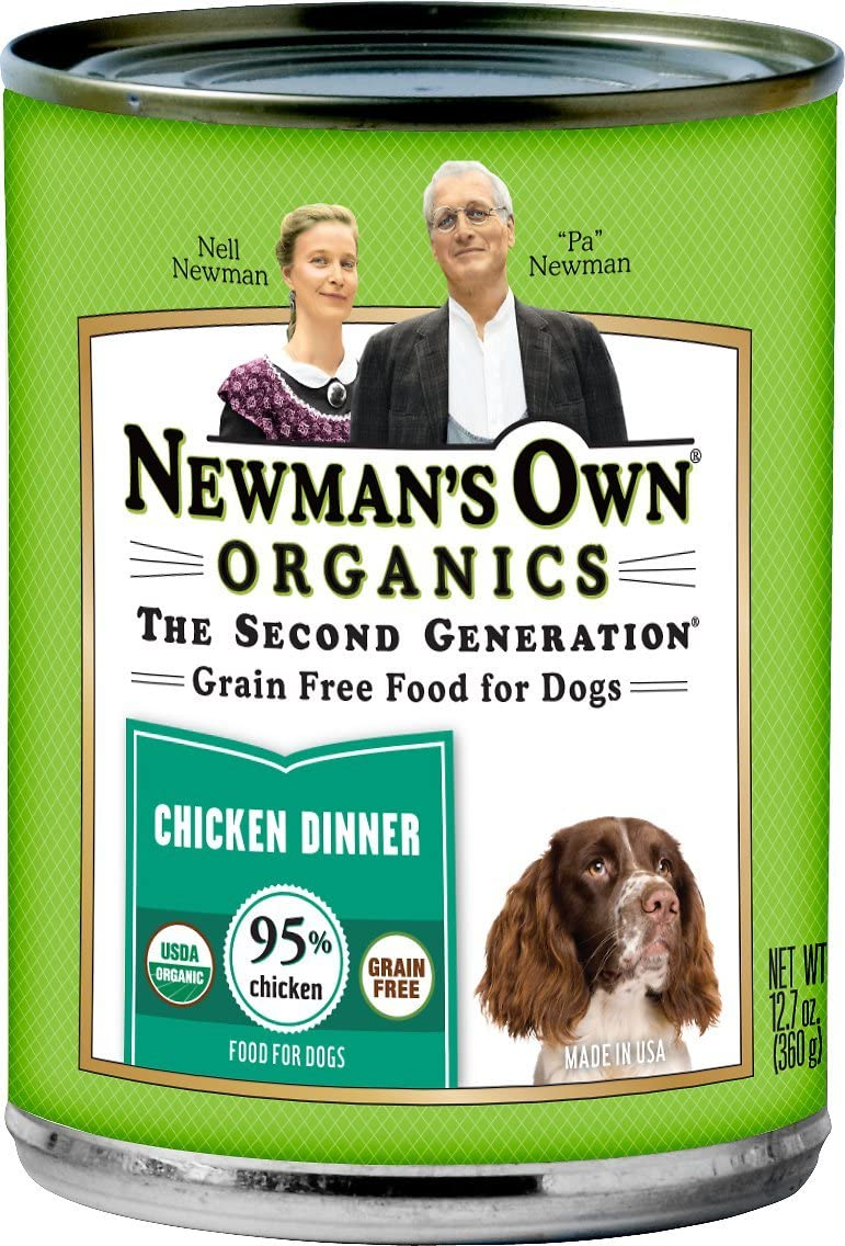 Newman'S Own Usda Organic 95% Chicken Grain-Free Dinner, 1 Count, One Size