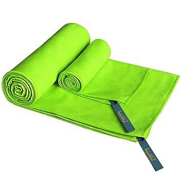 Toalla de Microfibra - HiWild Secado rápido - Grande, súper absorbente, ligera y compacta. Diseñada para deportes, viajes ...