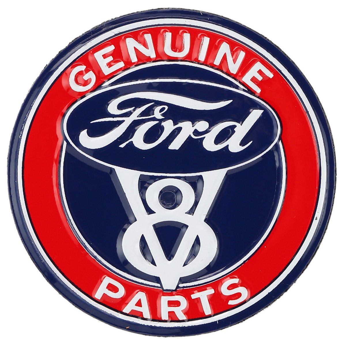 Open Road Brands Ford Blue and Red High Gloss Tin Metal Button Magnet - an Officially Licensed Product Great Small Gift and Addition to Add What You Love to Your Home/Garage Decor