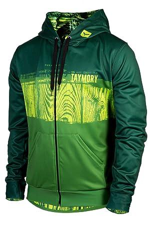 TAYMORY Forest JN055 Sudadera Abierta Capucha, Hombre, Verde, M: Amazon.es: Deportes y aire libre
